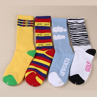 Wholesale Wholesale Fixed Gear - Wholesale-Free shipping ODD Future Donuts Crew Terry Socks Pussy Cat Ofwgkta Golf Wang Skateboard Fixed Gear Hiphop Calcetines Meias