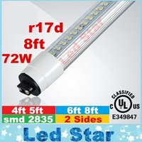 Discount led side smd - New Double Sides r17d T8 Led Lights Tubes 8ft 6ft 5ft 4ft Led Tubes 28W 36W 42W 72W 110LM W AC 110-240V