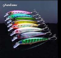 "Wholesale Carbon Shallow - Vibrative Shallow Jerk fishing lure 8colors Japanese Minnow Plastic Hard Bait 0.5oz 11cm 4.3"" fishing tackle"