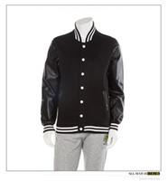 Wholesale Mens Silver Leather Jacket - Fall-Colorful leather sleeve mens baseball jerseys LK clothing tyga lastkings men's hoodies high quality fleece last kings jackets