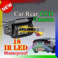 caméra ccd à l'épreuve de l'eau achat en gros de-Vue arrière de voiture inversée 18 IR LED inversant la vision nocturne de la caméra CCD étanche