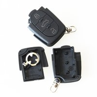 Wholesale Remote Key Audi A3 - Auto replacement 3 button remote key shell FOB case for Aud A2 A3 A4 A6 fit small battery CR1620 10pcs lot