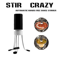 Wholesale Food Pastes - 3 Feet Automatic Hands Free Sauce And Soup Electric Stirrer Vibrant Mixer Home-Shake Blender Whisk Easy To Install And Use - Black
