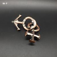 iq puzzle-lösungen großhandel-Amor Ring Puzzle Liebhaber Spiele Erwachsenen Spielzeug Metall Ring Magic Puzzle Lösung IQ Brain Teaser Test
