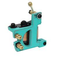 Wholesale Handmade Tattoo Machine Gun Shader - Alloy Tattoo Machine Tattoo Guns Supply For Liner & Shader Low Heat Tattoo Guns 10 Coils