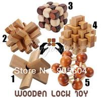 rompecabezas de juguetes educativos al por mayor-Juguetes educativos de madera tradicionales chinos divertidos para niños adultos Educativos de inteligencia Bloqueo para niños Juguetes de madera para bebés