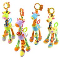 Wholesale Activity Spiral - New 37cm Giraffe Activity Spiral baby bed pram hanging toys baby stroller toy infant gifts plush product Free shipping