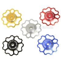 Wholesale Carbon Road Wheels Sram - AEST Mountain Bike MTB Road Bike AL7075 CNC Ceramic Bearing Jockey Wheel Rear Derailleur Pulley for SHIMANO SRAM 2PCS, 5 Color