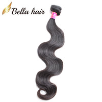 ombre cabelo polegadas preços venda por atacado-Extensões de Cabelo malaio Tece Onda Do Corpo Da Cor Natural Feixes de Cabelo Humano Trama Dupla Bellahair 8A 2 pçs / lote