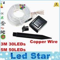 Wholesale Christmas Decor Outdoor Led Cool - 2016 Newest 3M 30LEDs   5M 50LEDs Solar Rope Tube Led String Strip Fairy Light Outdoor Garden Xmas Party Decor Waterproof IP68
