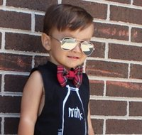 Wholesale Custom Baby Boy Outfits - Custom Design Kids clothing for boys girls Christmas Party vest cotton sleeveless t shirt children black white tank tops baby outfits
