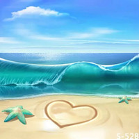 Wholesale Paintings Ocean Waves - 5X7FT blue ocean waves nature photography backdrops for photos muslin digital photography background vinyl studio backdrop computer printed
