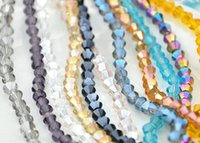 Wholesale Glass Bracelets 3mm - 2016 Lovely 280PCS 3MM Bicone Crystal AB Color Beads Glass Bead Loose Spacer Bead for DIY bracelet necklace Jewelry Makin