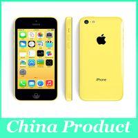 retina de manzana al por mayor-Original Apple iPhone 5C Desbloqueado Teléfono móvil 1G / 32GB Dual-Core IOS 8 Retina 4.0