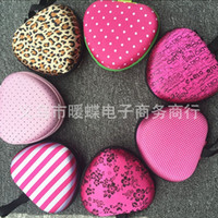 Wholesale Double Bra - Practical Lovely Box Invisible Silicone Bra Heart Shaped Storage Bags Double Zipper Design Mini Bag Top Quality 7nd B