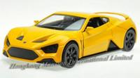 dänische modelle großhandel-1:32 legierung Diecast Car Modell Für Dänische Roadster Zenvo ST1 Collection Zurückziehen Spielzeug Auto Mit SoundLight-Gelb / Weiß / Grau