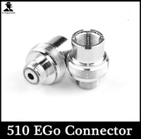 Wholesale Electronic Cigarette Adaptors - NEW Metal Ecigs eGo Adaptor 510 to 510 Adapter Extender 510-510 eGo-510 Adaptor Connector for 510 Threading Electronic Cigarette