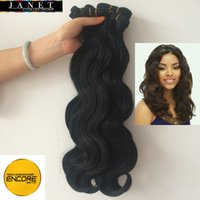 "Wholesale Mixed Premium Weave - Janet Collection Encore New Body Weaving Premium Blended Hair Weave 12""-20"" Human Hair Mix Kanekalon Futura Fiber"