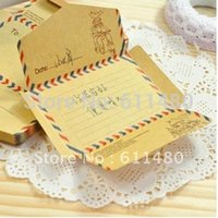 Wholesale Memo Envelop - Wholesale-Free shipping cute stationary Notepads envelop kawaii memo pads mini sticky paper notes 12pcs   lot