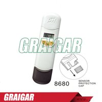 Wholesale Water Ph Testing Pen - PH meter Test Range 2.00 ~ 12.00 Portable AZ8680 LCD Dual Display IP65 Water Proof Pen Type PH Meter Tester