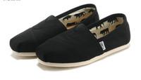 unisex kanvas ayakkabılar toptan satış-2018 sıcak marka yeni kadın erkek kanvas ayakkabılar flats loafer'lar rahat tek ayakkabı katı sneakers Sürüş ayakkabı unisex tom espadrille Yürüyüş ayakkab ...