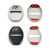 ingrosso coperture della porta-Caso della copertura della serratura della porta auto-styling per VW Volkswagen R Line Golf 7 Passat B5 B6 B7 MK4 MK6 MK7 RLine CC Accessori Car Styling