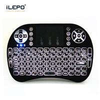 teclado de retroiluminação sem fio mini venda por atacado-2.4g sem fio retroiluminado teclado mini rii i8 com touchpad air mouse backlight jogo teclado para mini pc tablet android caixa de tv