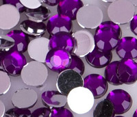 Wholesale Crafts Rhinestones For Decorations - Wholesale - 10mm Clear Round Acrylic Rhinestone Flatback Strass Crystal Stones For Clothing Dress Crafts Decorations A
