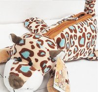 Wholesale Nici Animal Series - Free shipping!original design NICI animal series leopard pencil case  pen bag pencil case change pur