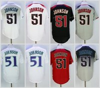 2017 Flexbase Arizona # 51 Randy Johnson Home Away camiseta de béisbol blanco rojo gris fresco base cosida jerseys