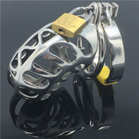 Wholesale Chinese Sex Toys - Chinese Dragon Design Male Cock Cage MKC007 Long Lengh Male Chastity Device with 3 size Anti-off Ring BDSM bondage sex toys