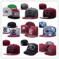 Cheap 2017 New South Carolina Gamecock NCAA Snapback Hats Marca EUA College Cartoon Logo Caps ajustáveis ​​Moda Hip Hop Chapeaux