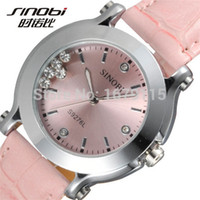 Wholesale Sinobi Fashion Crystal - Original top brand watches for women Fashion Crystal quartz watch women SINOBI Brand Leather strap ladies Watch montre femme