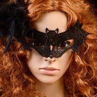 Halloween Bat laço meia máscara para as mulheres 2016 New Arrive Moda Hot Sale Party Masks Party Supplies máscara Cheap Modest Hot Venda Atacado