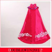 Wholesale Sleeveless Mandarin Collar Dress - 2015 New tutu dress Cloak party dress Girl dance dress costume Autumn dress Elsa long sleeves cape