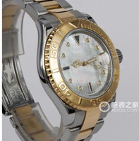 Luxe MONTRES 18kt Or SS Mother of Pearl Diamond Sapphire 16623 SANT BLANC Man Wristwatch