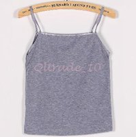 Wholesale Sleeveless Ladies Candy Color - 2000pcs CCA3305 High Quality Candy Color Women Cotton Tanks Camis Blouse Lady Loose Strap Vests Tee Sleeveless Tops Cotton Camisole Top Tees