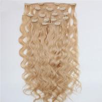 cheveux européens vierges de qualité achat en gros de-ELIBESS Pince à Cheveux En Extension de Cheveux 613 Couleur Profonde Bouclés 7 pcs 100 g / lot Top Qualité Européenne Vierge Remy de Cheveux Humains