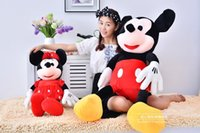 minnie wholesale plush achat en gros de-Vente en gros et gratuite NOUVEAU Peluche 2pcs / lot 35cm Mini Lovely Mickey Mouse et Minnie Mouse Stuffed Animals Peluches Toys pour cadeau pour enfants