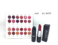Wholesale Wholesale Brand Name Lipsticks - FREE SHIPPING Lowest Best-Selling NEW Brand Makeup 24 colors Matte lipstick have English name 24 PCS