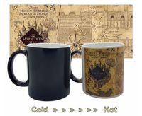 Wholesale Christmas Coffee Mugs Gifts - Ceramic Cup Marauders Map Mugs Harry Potter Marauder's Map Heat Changing Mug Coffee Marauders Official Christmas gift