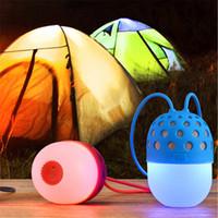 mini luz de luciérnaga al por mayor-Nuevos altavoces inalámbricos Bluetooth Firefly Coloridas luces LED a prueba de agua al aire libre portátil mini linterna estéreo Color lámpara Q0288