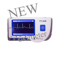 Wholesale Heal Force - NEW 15PCS Health Care CE Easy Handheld Heal Force ECG EKG Continuous Measuring Function USB Portable PC-80B LCD Heart EKG Monitor