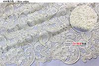 bufanda africana gele al por mayor-Tela de encaje soluble en agua de alta calidad barata Vestido de tela tridimensional hueca Accesorios de vestir Hermosa