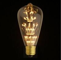 Wholesale 27 Led Light Bar - ST64 E26 27 110V 220V 3W Vintage Retro Filament Edison LED Bulb Warm White Perfect Decorate For Home,Shop Bar Light