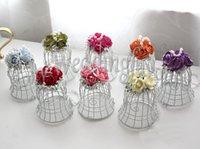 ingrosso campana birdcage-100 pezzi favori unici BELL bianco Birdcage con fiori forniture di nozze bomboniere bomboniere, bomboniere