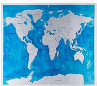 Scratch Map Oceans Vintage Deluxe Home Decor World Map Wallpaper Brinquedos Presentes Travel Scratch for Map 81.5 * 57.5CM KKA3593