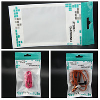Wholesale cell phones accessories for sale for sale – best 16x9cm Zipper Plastic Retail package bags for Cell phone Accessories Earphones stereo earphones Packing bag factory sales