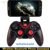 Wholesale Game Pad Tablet - Terios T3 Wireless Bluetooth Gamepad Joystick Game pad Gaming Controller Remote Control for Samsung S6 S7 Android Smart phone Tablet TV Box