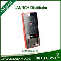 Wholesale Diagun Red Box - Wholesale-Launch X431 Diagun III Diagun 3 Full Package With Red and Yellow box Newest LAUNCH Scanner Multi-language 100% Original